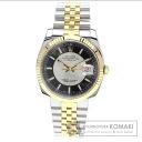 Authentic ROLEX Datejust Watch stainless steel SSxK18YG  Men