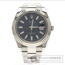 Authentic ROLEX Datejust Watch stainless steel K18WG  Men