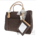 Authentic renoma  By color 3-layer Handbag Ostrich