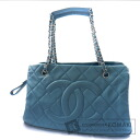 Authentic CHANEL  Here marked Shoulder bag Skin Caviar