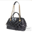 Authentic CHANEL  COCO Mark Gold Chain 2WAY Shoulder bag Lambskin