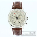 Authentic BREITLING Navitimer World A24322 Watch stainless steel Leather Self-winding Men