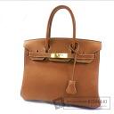 Authentic HERMES  Birkin 30 Gold Hardware Handbag Clemence taurillon