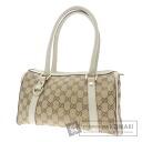 GUCCI GG pattern handbag canvas x Leather Womens