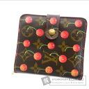 Authentic LOUIS VUITTON  Compact zip M95005 Cherry Blossom (With coin purse) bi-fold wallet Monogram canvas