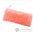Authentic MIUMIU  gathered (With coin purse) Purse Leather