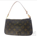 Authentic LOUIS VUITTON  Pochette access Soir M51981 Accessory pouch Monogram canvas