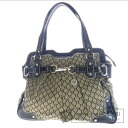 Authentic NINE WEST  Circle pattern Shoulder bag Leather