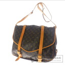 Authentic LOUIS VUITTON  Saumur LL M42252 Shoulder bag Monogram canvas