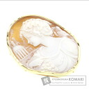 Cameo Brooch 18K Yellow Gold  14.9
