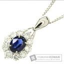 1.07ct Sapphire Necklace PlatinumPT850  9.4