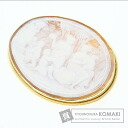 Cameo Amendola work Brooch 18K Yellow Gold  49.3