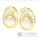 Authentic TASAKI  Mabe pearl Pearl Earring 18K Yellow Gold