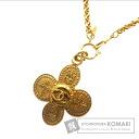 Authentic CHANEL  COCO Mark heraldic design Necklace Metal