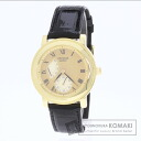 Authentic SEIKO Cradle Watch 18K Yellow Gold Leather  Men