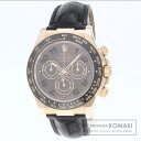 Authentic ROLEX Daytona Watch 18K Pink Gold Leather  Men