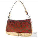 Authentic COACH  6094 Signature Demi Accessory pouch Canvas Leather
