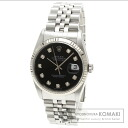 Authentic ROLEX Datejust 10P diamond Watch SS   Men