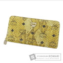 Authentic MCM  Logo pattern python motif python (With coin purse) Purse Leather