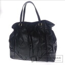 Authentic GUCCI  with logo Wrinkles processing Shoulder bag Leather