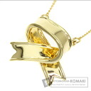 Authentic TIFFANY&Co.  Ribbon design Necklace 18K Yellow Gold