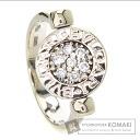 Authentic BVLGARI  Bulgari Bulgari / onyx diamond Ring 18K White Gold