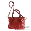 Authentic COACH  2WAY with logo Shoulder bag Leather