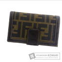 Authentic FENDI  Zucchino (With coin purse) bi-fold wallet Canvas