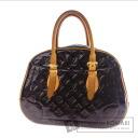 Authentic LOUIS VUITTON  Summit Drive M93516 Handbag Vernis leather