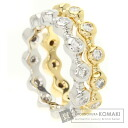 Authentic CHANEL  Bowl ring diamond Ring 18K White Gold 18K Yellow Gold
