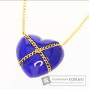 Authentic TIFFANY&Co.  Heart lapis lazuli Necklace 18K Yellow Gold