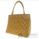 Authentic CHANEL  Matorasse COCO Mark Standard Tote bag Skin Caviar