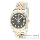 Authentic ROLEX Datejust Watch stainless steel SSxK18PG  Men