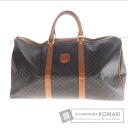 Authentic CELINE  Macadam pattern travel Boston bag PVC Leather