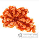 Flower Coral Brooch 18K yellow gold  25.5