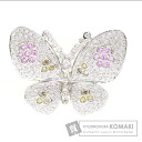 1.55ct Butterfly Pink Sapphire Brooch 18K White Gold  11.7
