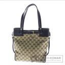 GUCCI GG pattern shoulder bag canvas x Leather Womens