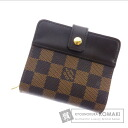 LOUIS VUITTON compact zip N61668 two-fold wallets (purses and) Damier Canvas unisex
