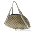GUCCI GG pattern tote bags canvas / Leather Womens