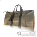 BURBERRY logo plate with travel bag canvas unisex
