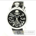 Authentic Gaga Milano Manuare Watch stainless steel Leather  Men