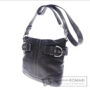 Authentic COACH  1452 seat angle Shoulder bag Leather