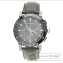 Authentic BURBERRY BU9384 Watch stainless steel Leather  Men