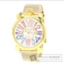 Authentic Gaga Milano Manuare Watch Gold Plated Gold Plated  Men