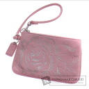 Authentic COACH  with logo Accessory pouch Leather