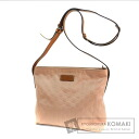 Authentic GUCCI  GG type push diagonally cliff Shoulder bag Nylon Leather