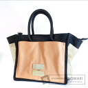 Authentic SEE BY CHLOE  with logo 2way Tote bag Leather