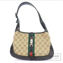 Authentic GUCCI  Jackie bag Shoulder bag Canvas x Leather