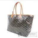 Authentic GOYARD  Saint-Louis PM herringbone Tote bag PVC Leather