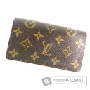 Authentic LOUIS VUITTON   (With coin purse) bi-fold wallet Monogram canvas